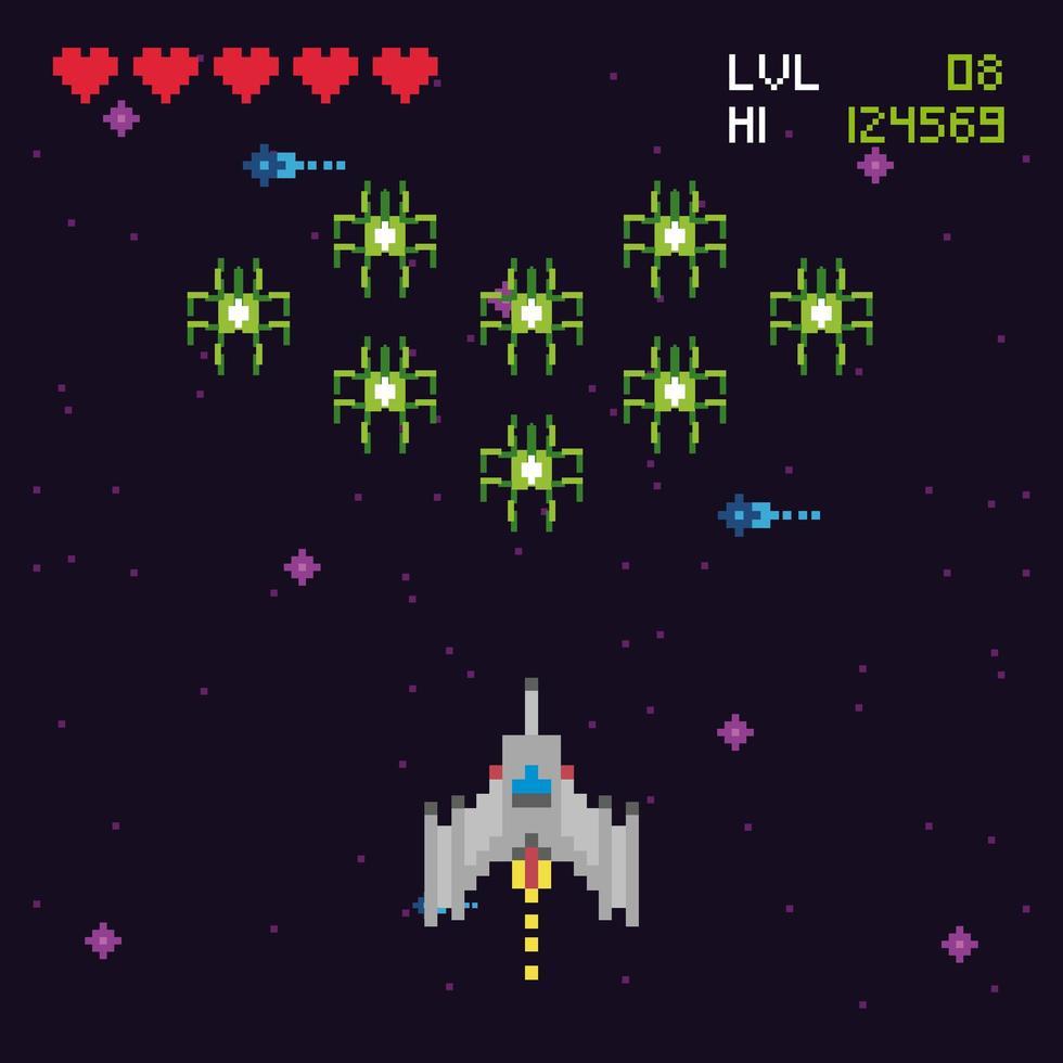 retro videospelsplats vektor