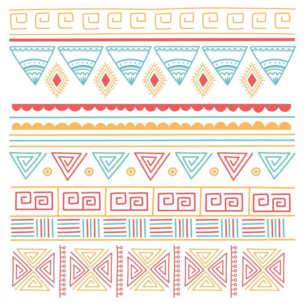 ethnische handgemacht. Stamm Ornament Stil Hintergrund vektor