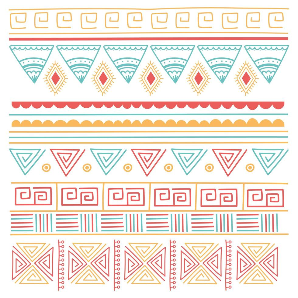 etniska handgjorda. tribal ornament stil bakgrund vektor