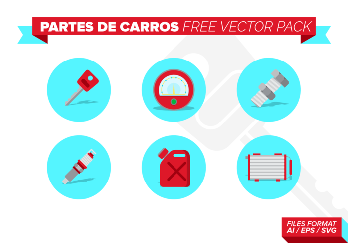 Partes De Carros Free Vector-Pack vektor