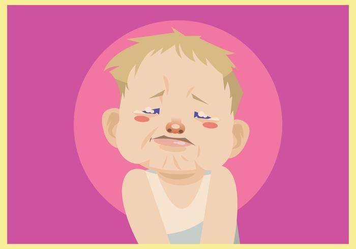 Crying Baby Boy Vector