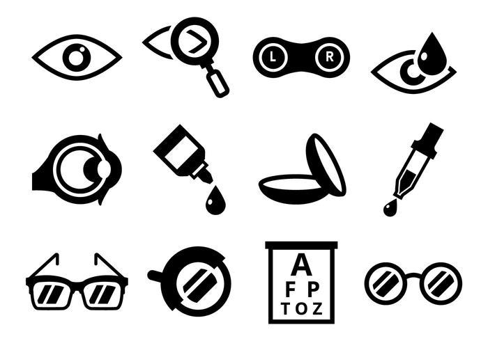 Freie Optometry Icons Vector
