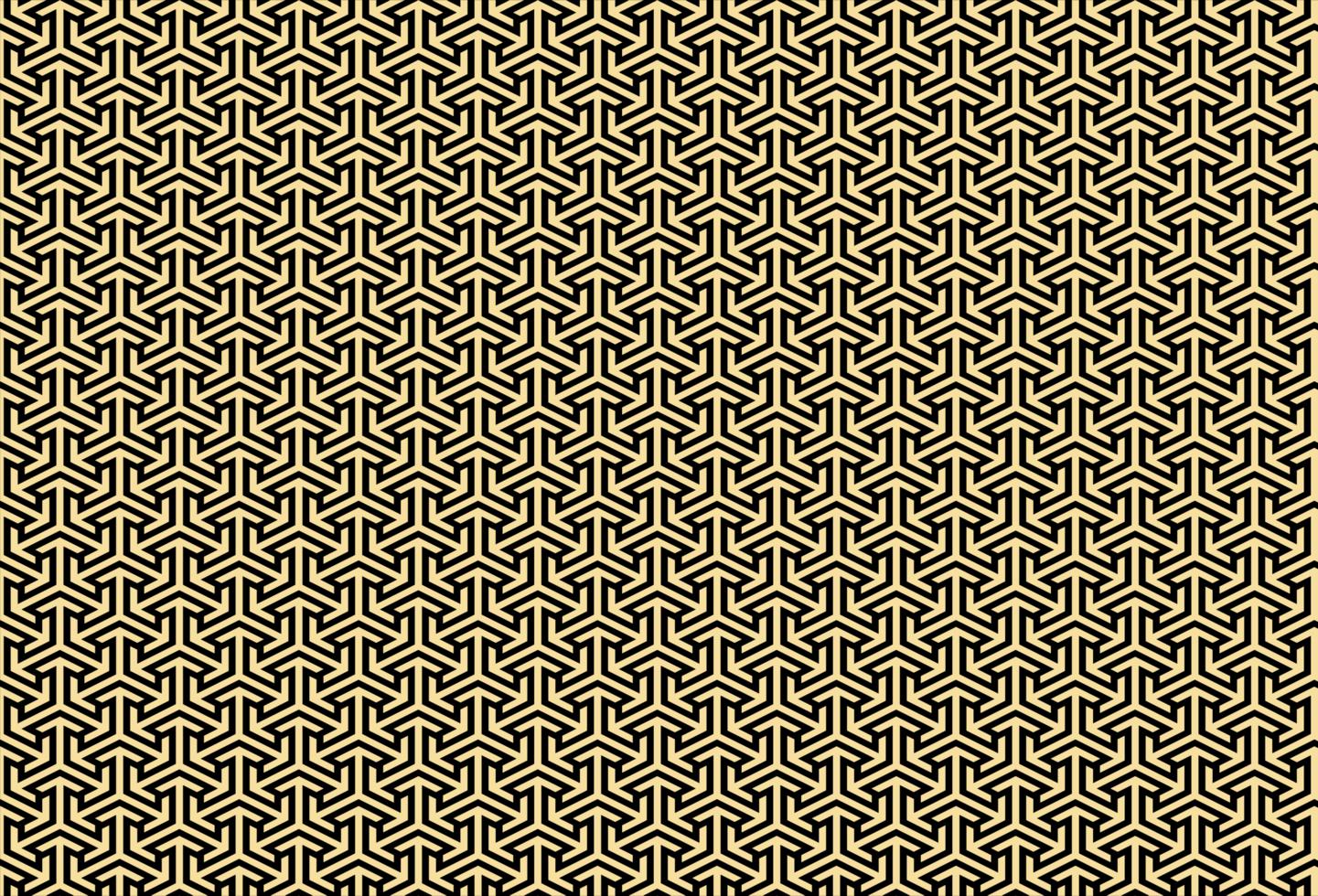geometrisches Muster der goldenen Farbe vektor