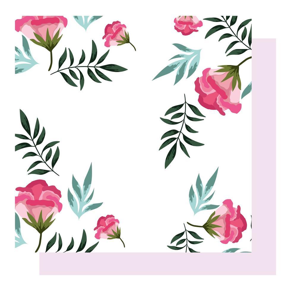 Blumenarrangements zur Begrüßung Dekoration Hintergrund vektor