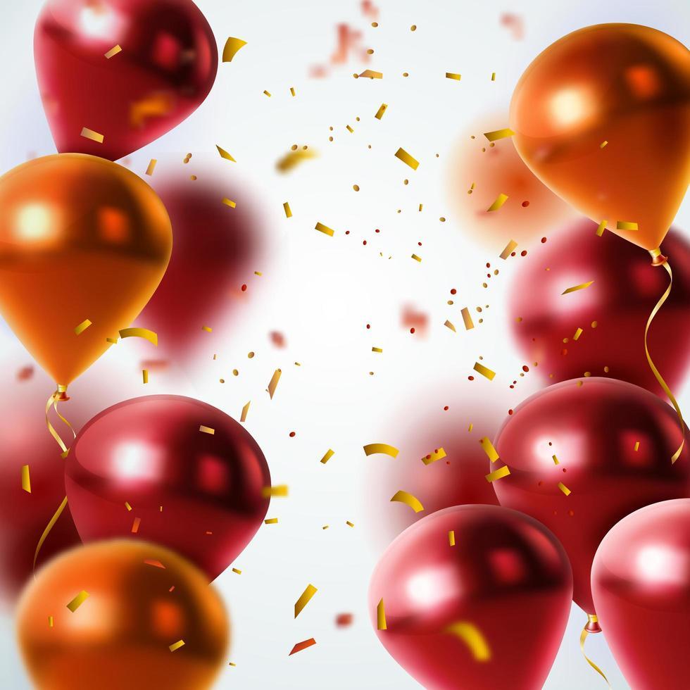 Ballon Konfetti Glitzer Hintergrund vektor