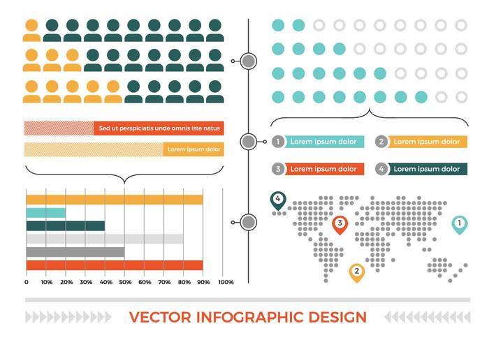 Färgad vektor Infographic Elements