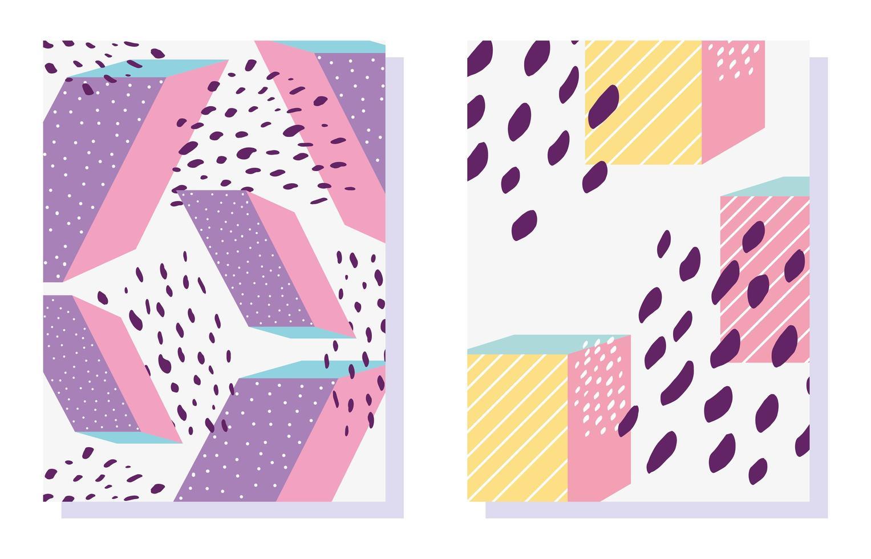 Memphis geometrische Formen Muster in 80er Jahre trendige Mode vektor