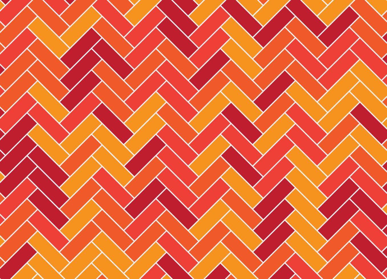 buntes rotes orange und gelbes Fischgrätenmuster vektor