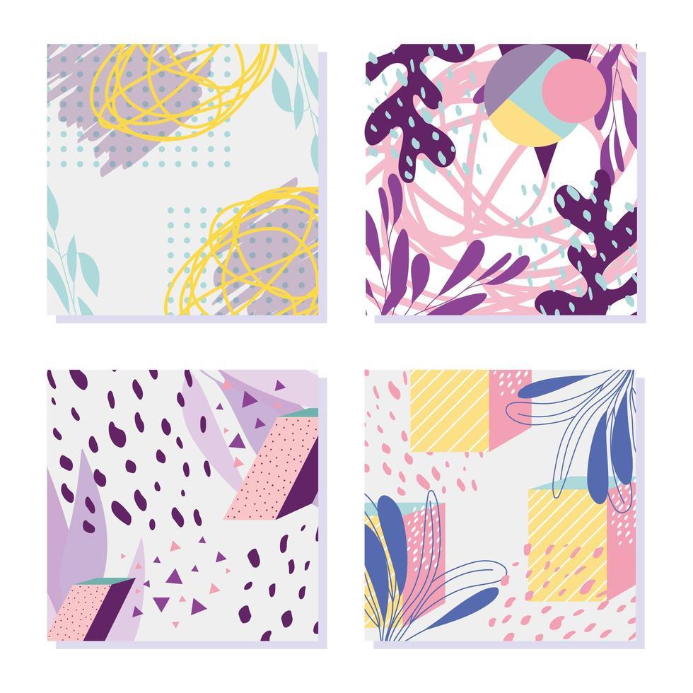 Figur geometrische Dekoration Memphis Stil abstrakten Hintergrund vektor