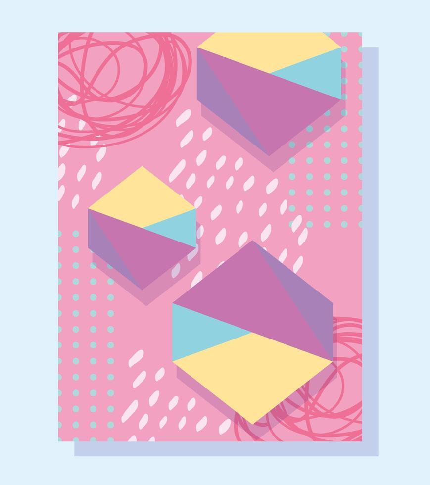 abstrakter trendiger Hintergrund im Stil der Memphis 80er Jahre vektor