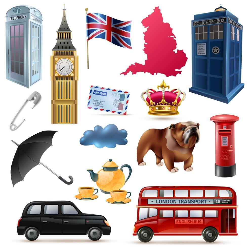 England London Set vektor