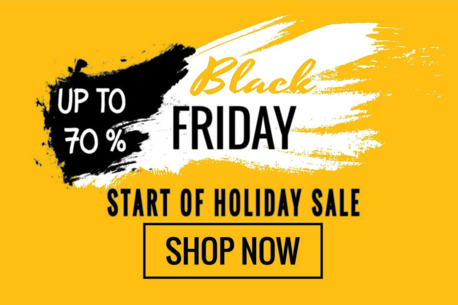 schwarzer Freitag gelbes Feiertagsverkaufsplakat vektor