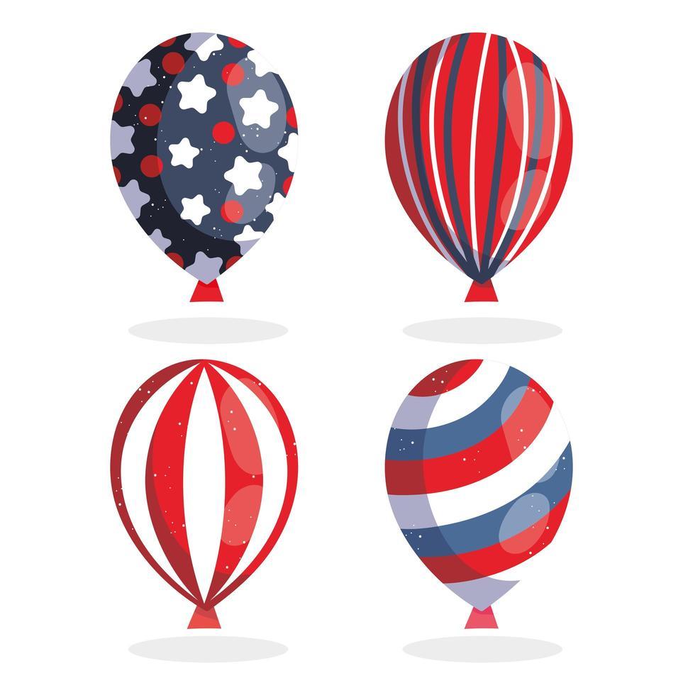 Luftballons zum Unabhängigkeitstag vektor