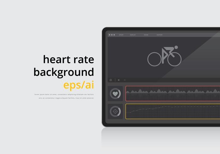 Herzfrequenz-Illustration Hintergrund vektor