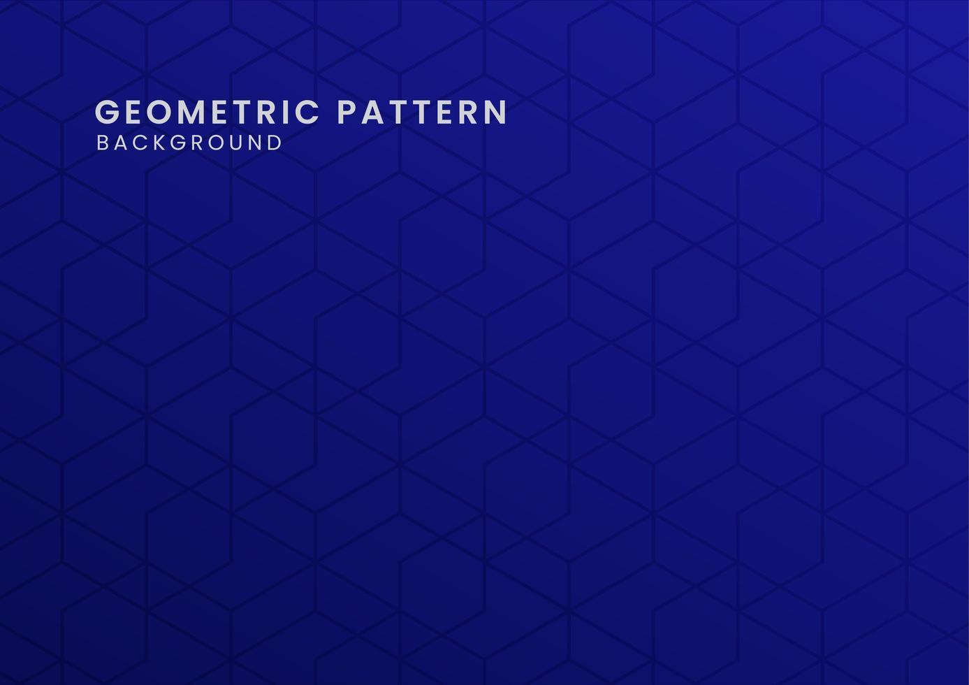 geometrischer blauer Musterhintergrund vektor