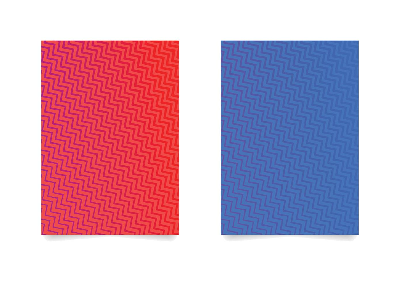 sicksack mönster bakgrund uppsättning vektor