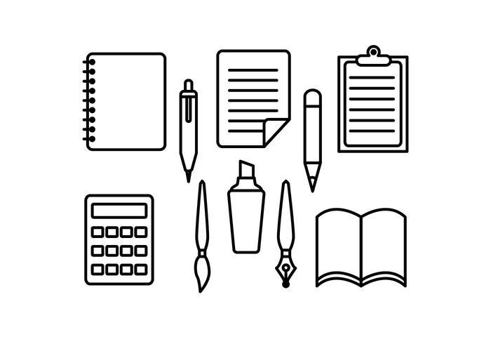 Freie Stationäre und Pen-Vektoren vektor