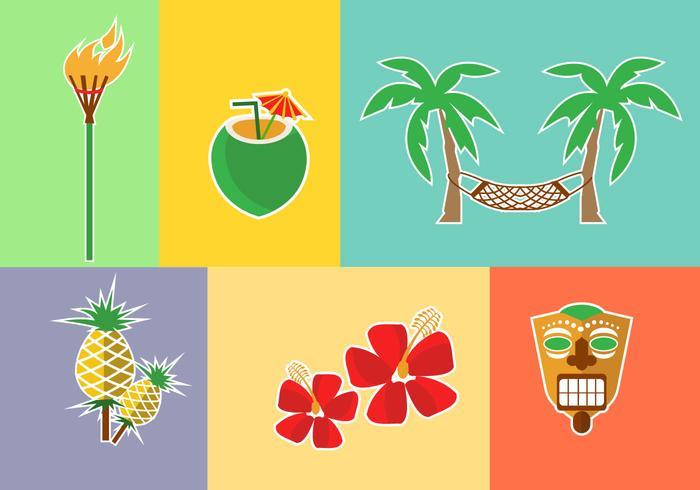 Hawaii-Ikonen-Vektoren vektor
