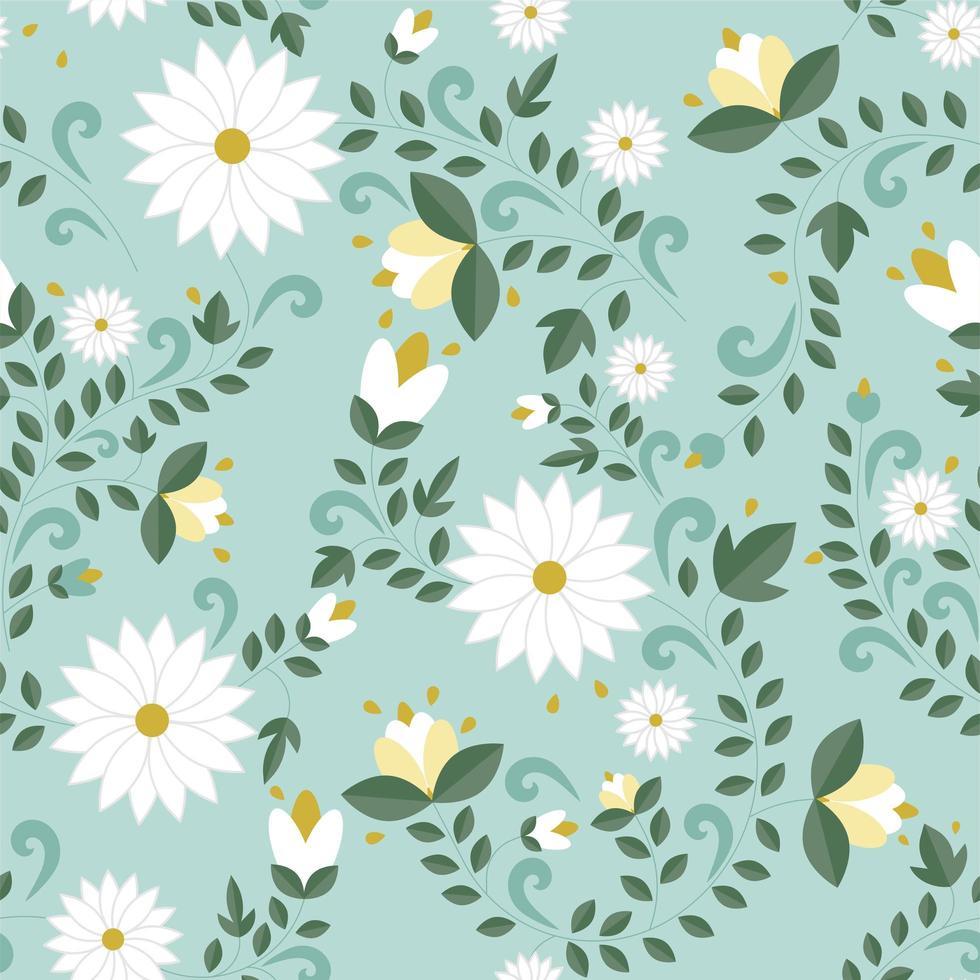 nahtloses Blumenmuster, Textur vektor