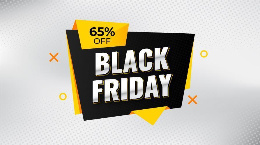svart fredag försäljning banner med rabatt vektor