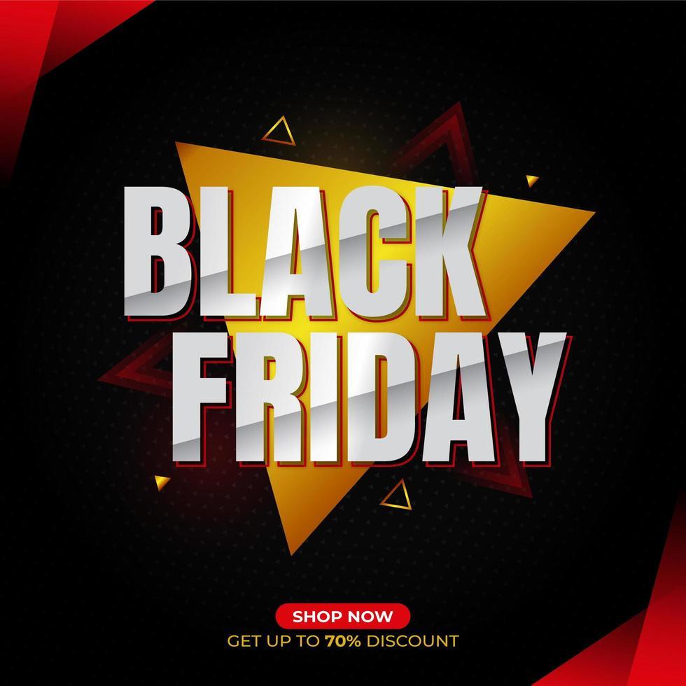 schwarzer Freitag Social Media Banner vektor