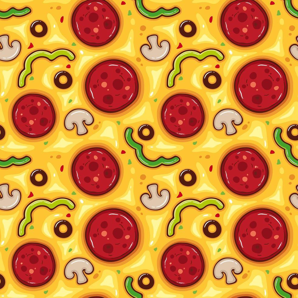 Pizzabelagmuster vektor