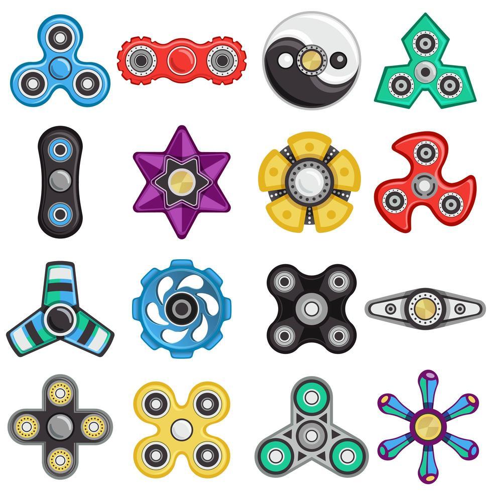Satz Spinner Spielzeug vektor