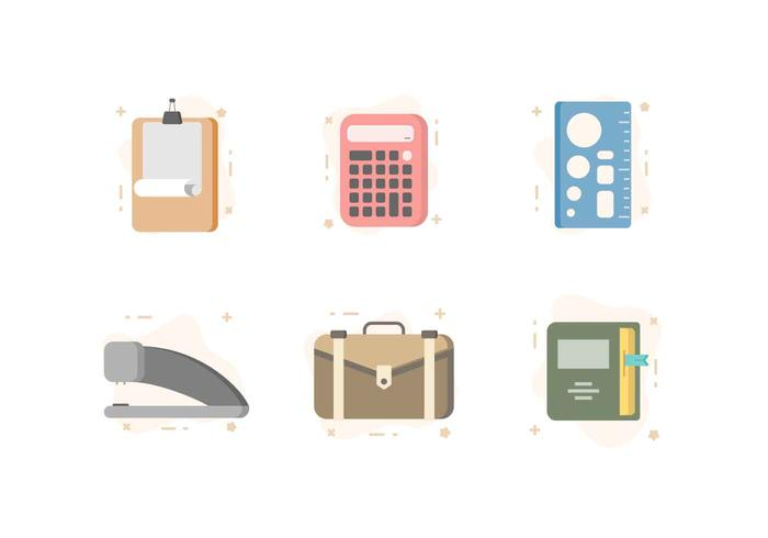 Kostenlose Moderne Büro-Briefpapier Vektoren