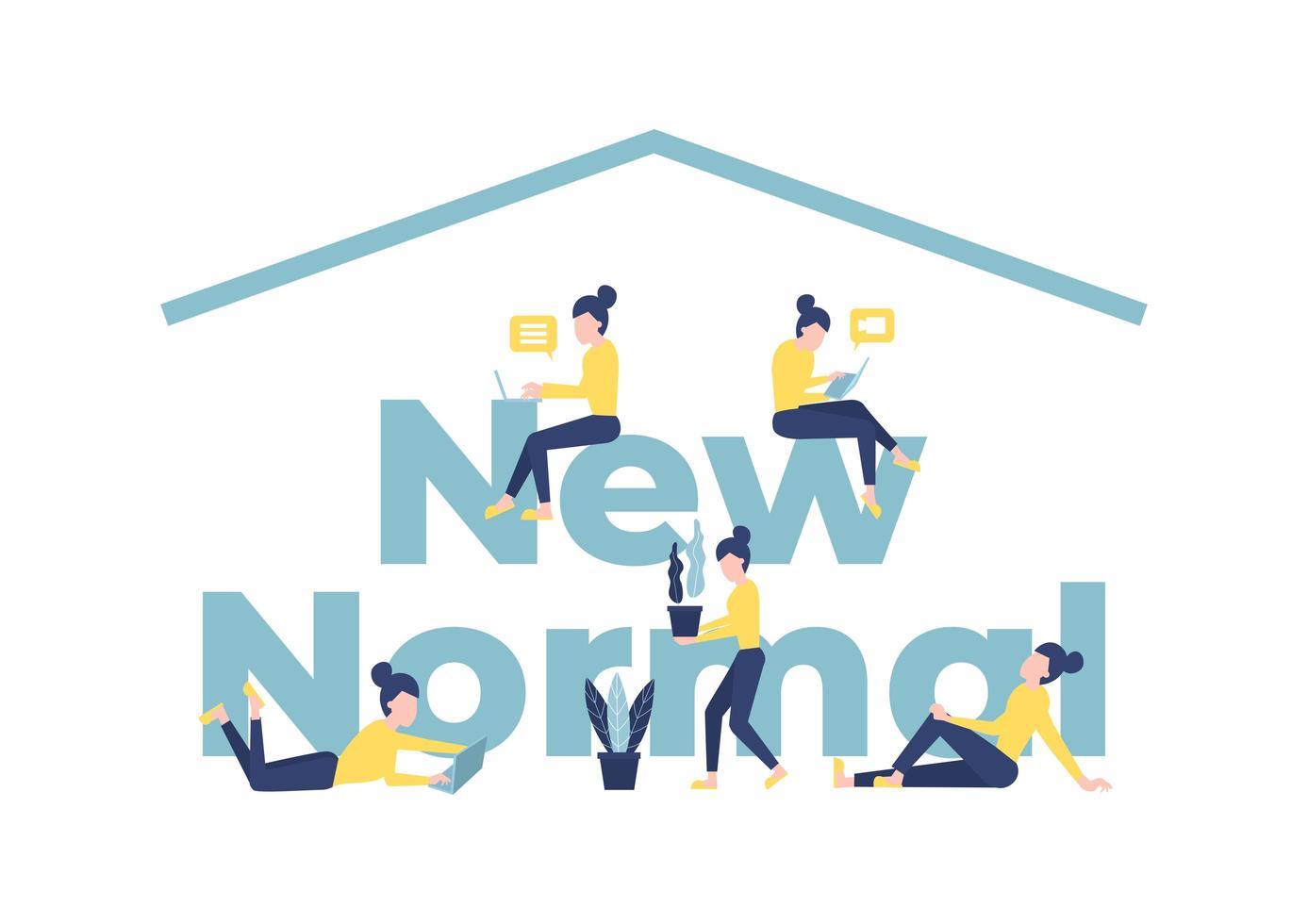 neues normales Lifestyle-Typografie-Konzept vektor