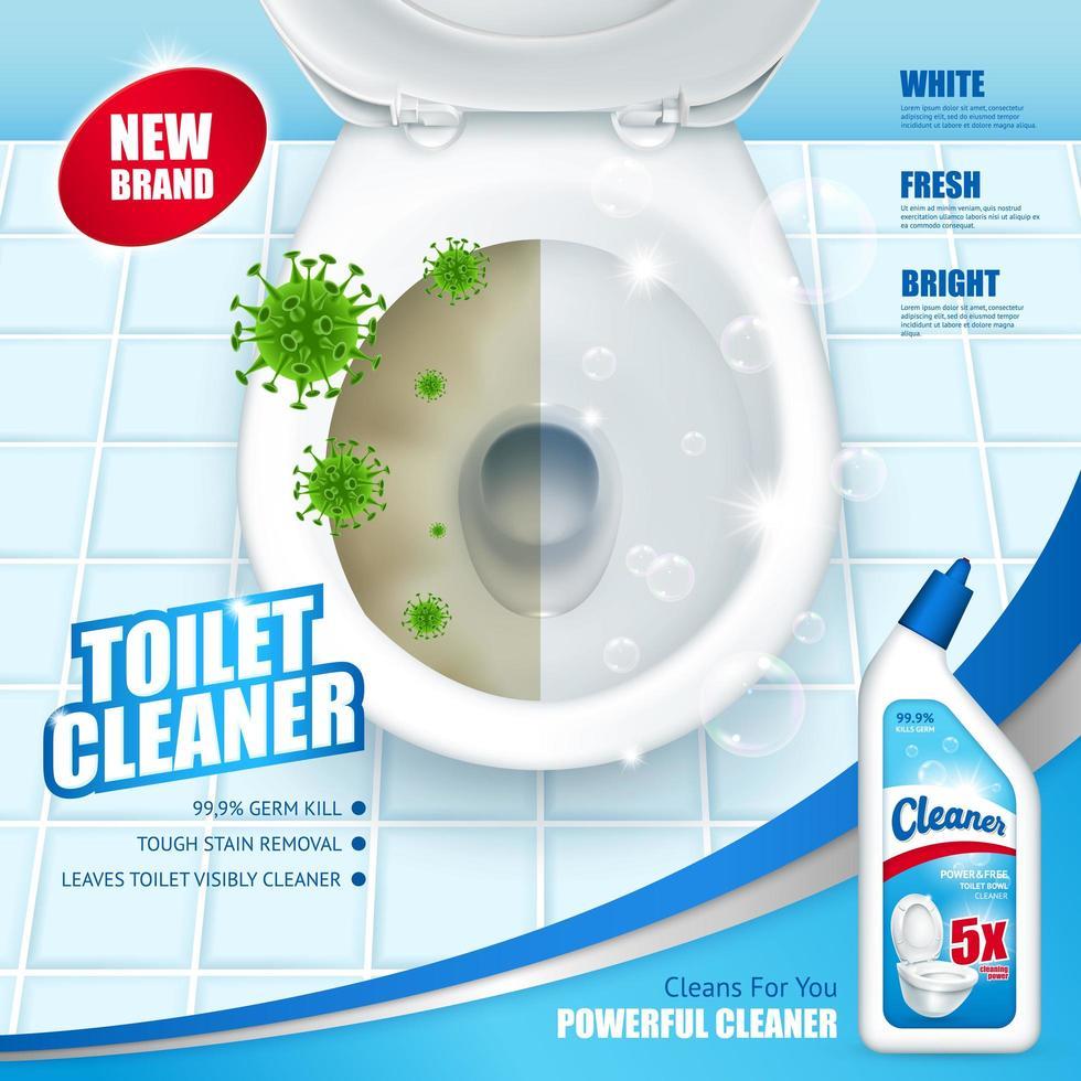 antibakterielle Toilettenreiniger Banner vektor