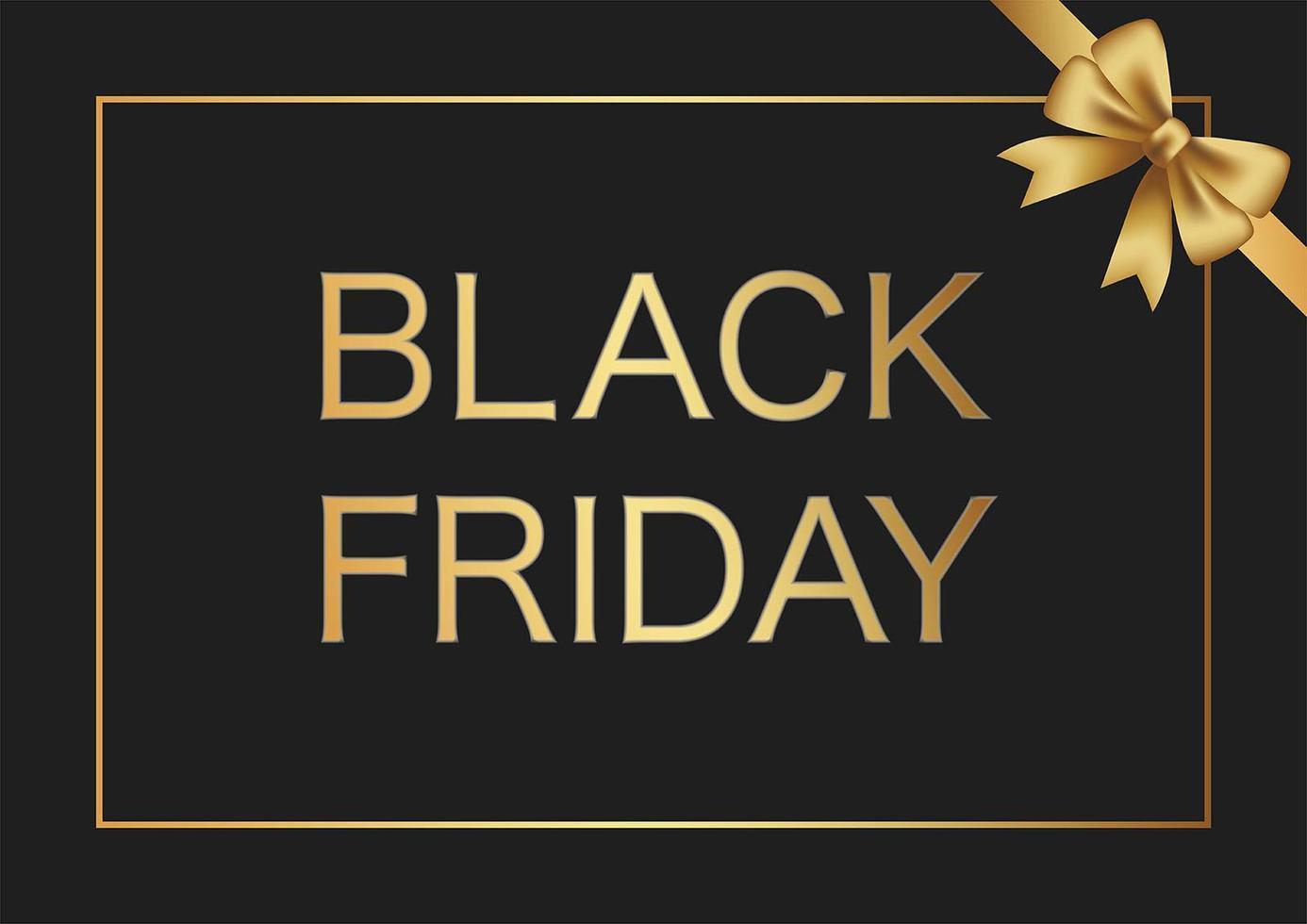 schwarzer Freitag-Verkaufsrahmen mit einem goldenen Band vektor