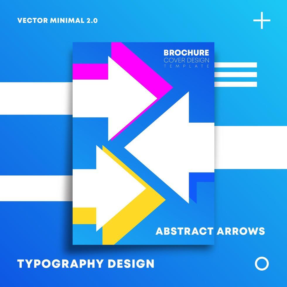 moderne Pfeile Design für Flyer, Poster, Broschüre vektor