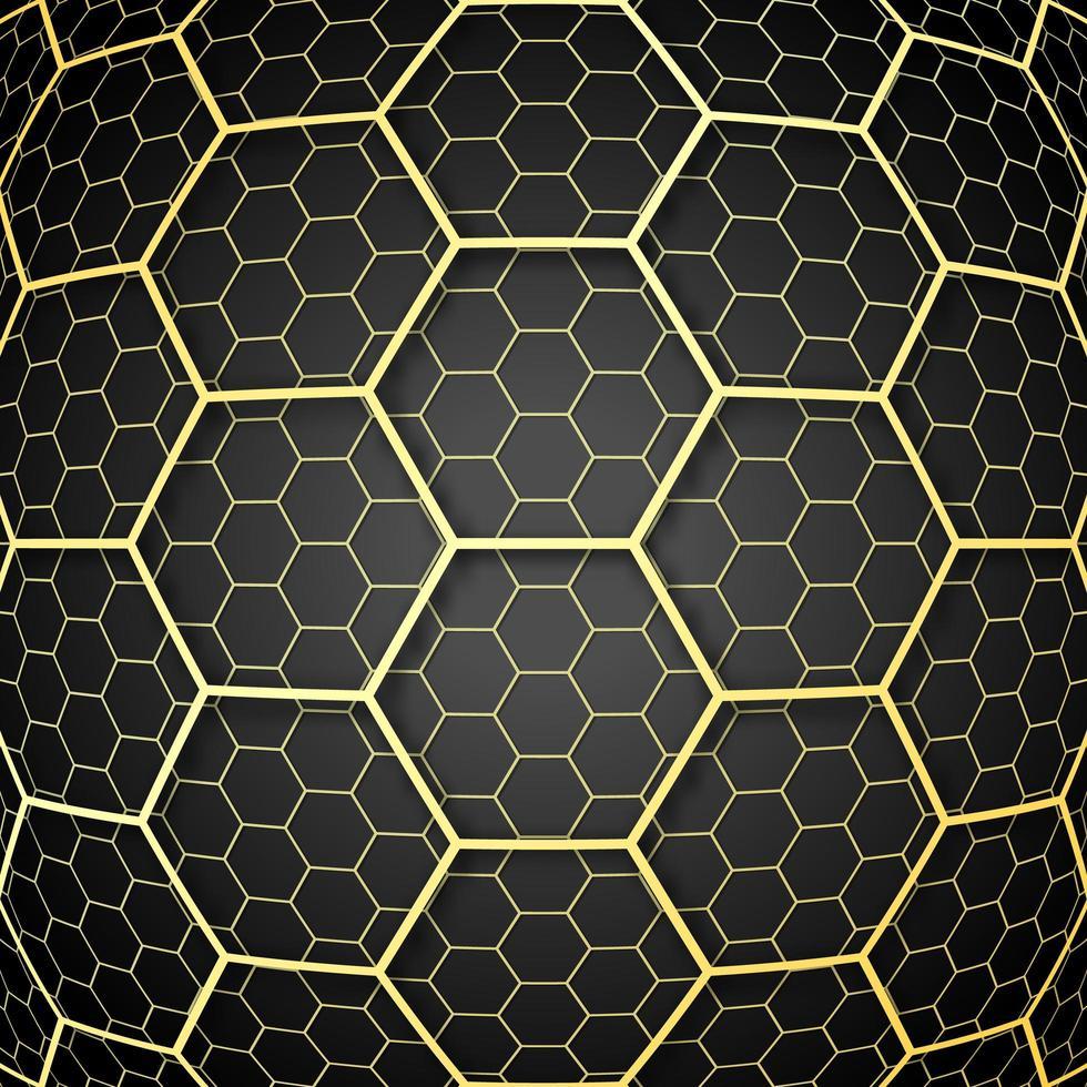 gyllene överlagrade celler mönster design vektor
