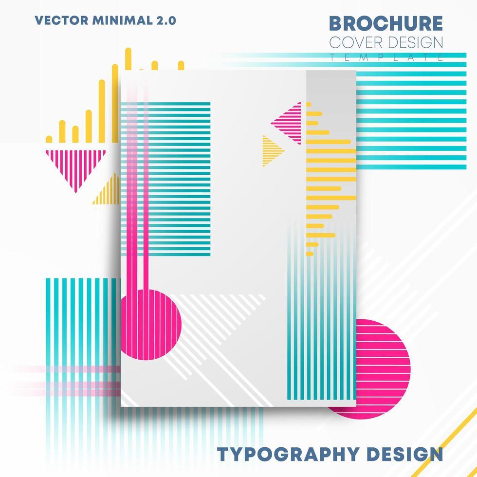 geometriska former design för flygblad, affisch, broschyr vektor