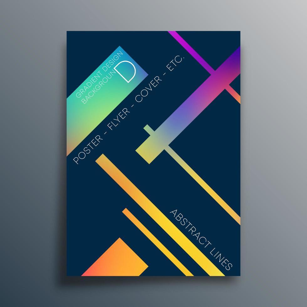 lineare Verlaufsstruktur für Tapete, Flyer, Poster, Broschüre vektor