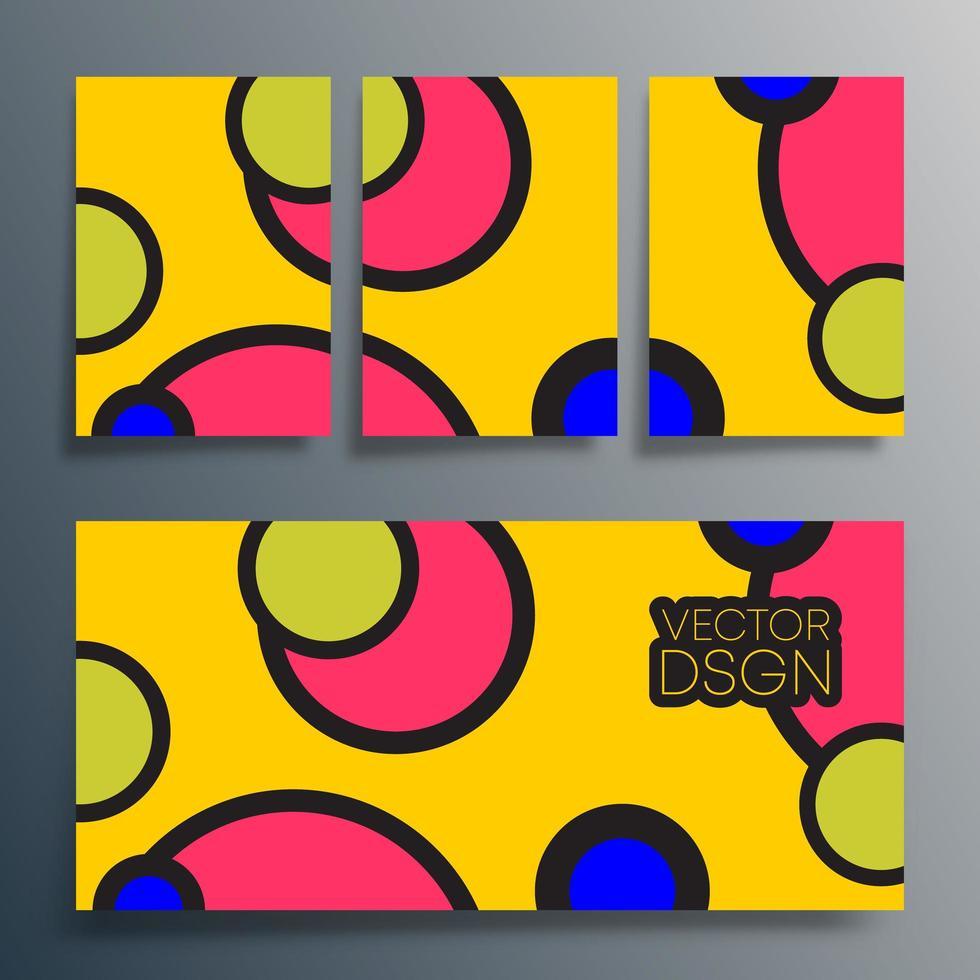 geometriska färgglada cirklar design för affisch, flygblad, broschyr vektor