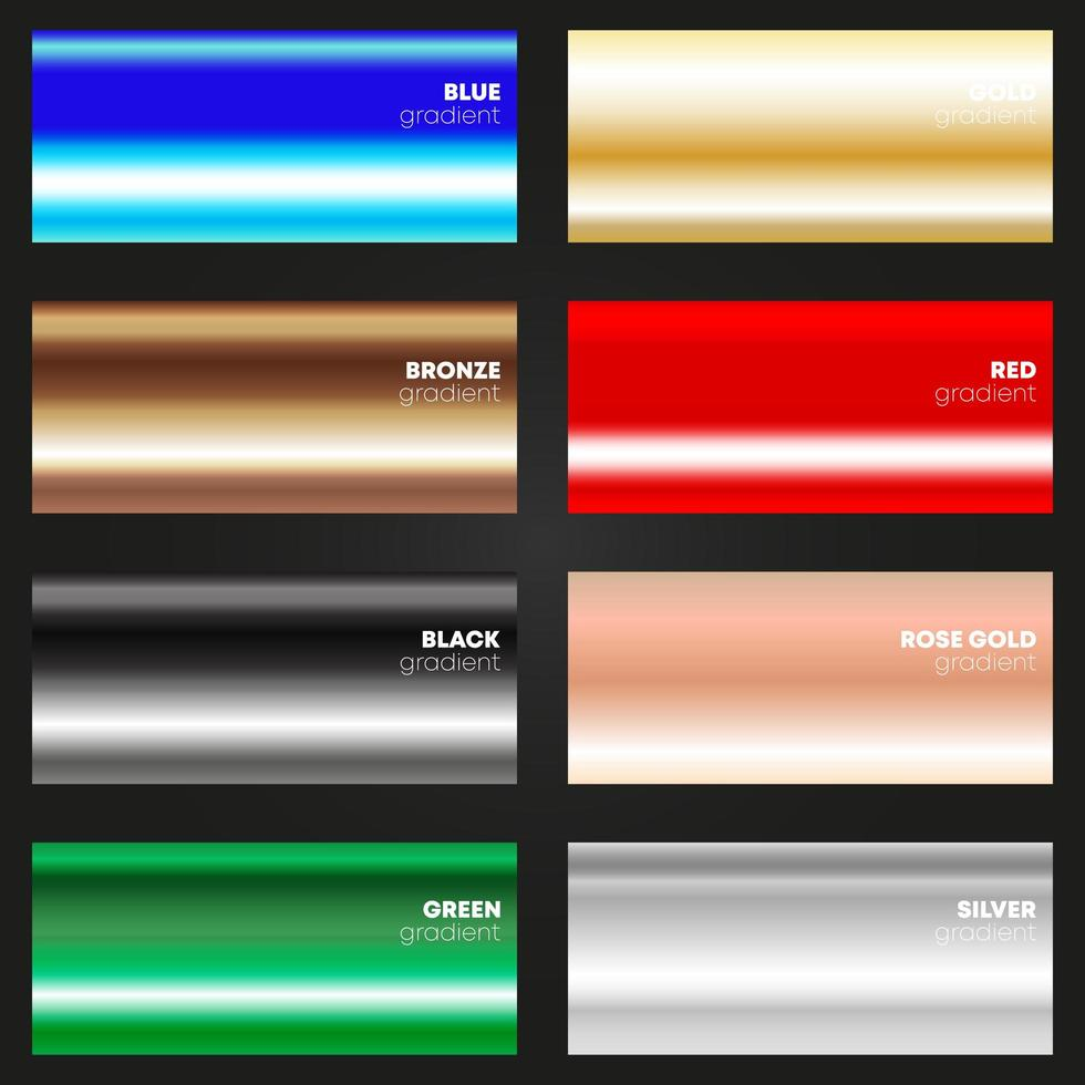 mehrfarbiger Gradiententextursatz vektor
