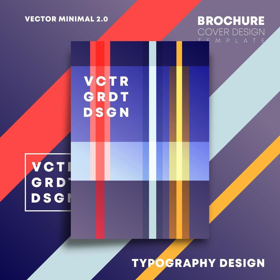 bunte Linien entwerfen für Flyer, Plakat, Broschüre vektor
