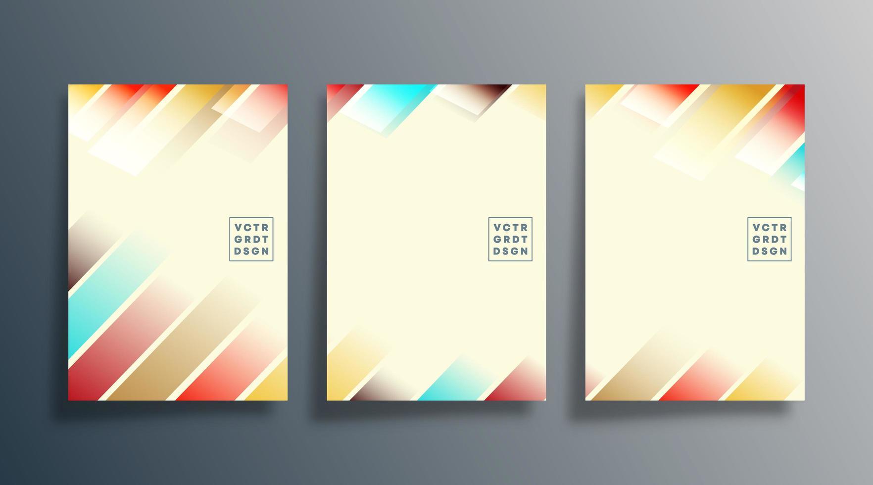 Verlaufsstreifen-Design für Flyer, Poster, Broschüre vektor