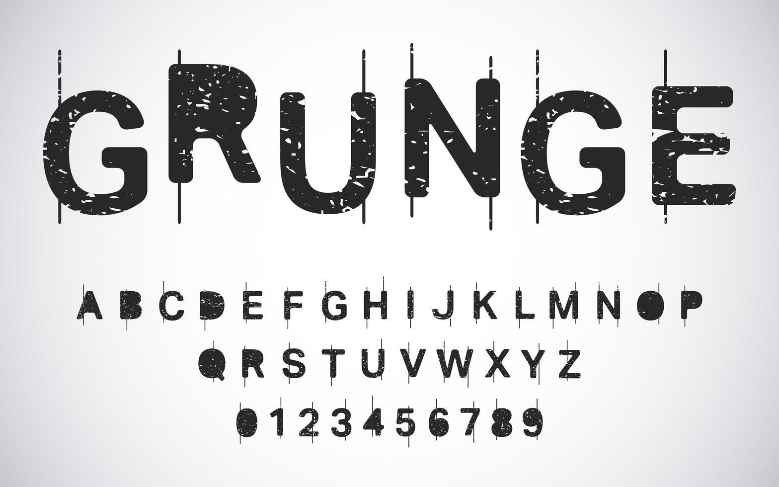 grunge alfabetmall vektor