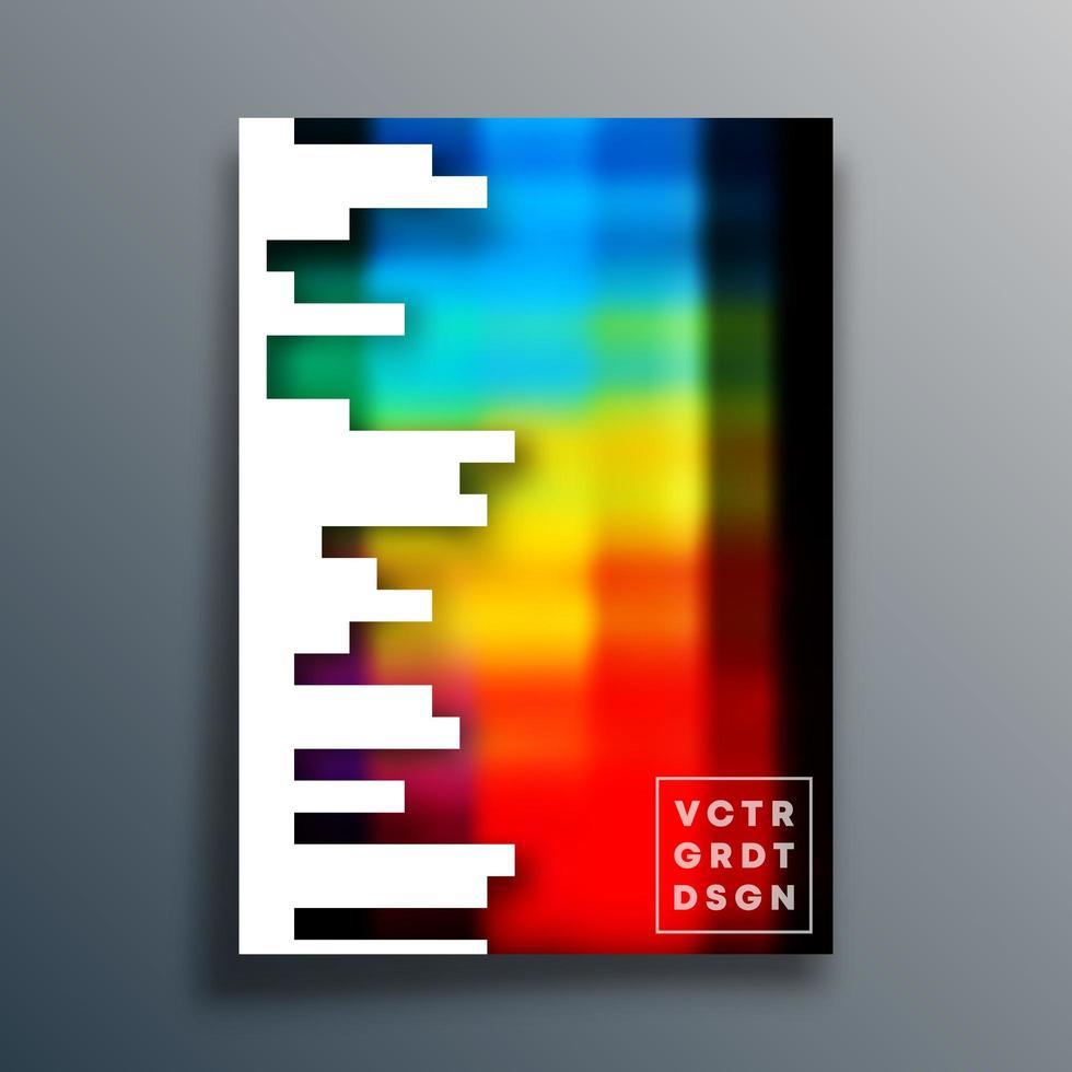 bunter Farbverlaufsentwurf des Pixelstils für Flieger, Plakat, Broschüre vektor
