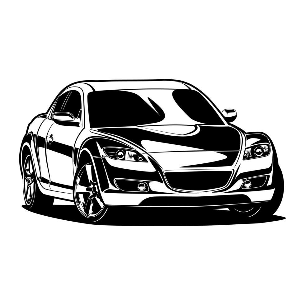 super bil ritning vektor