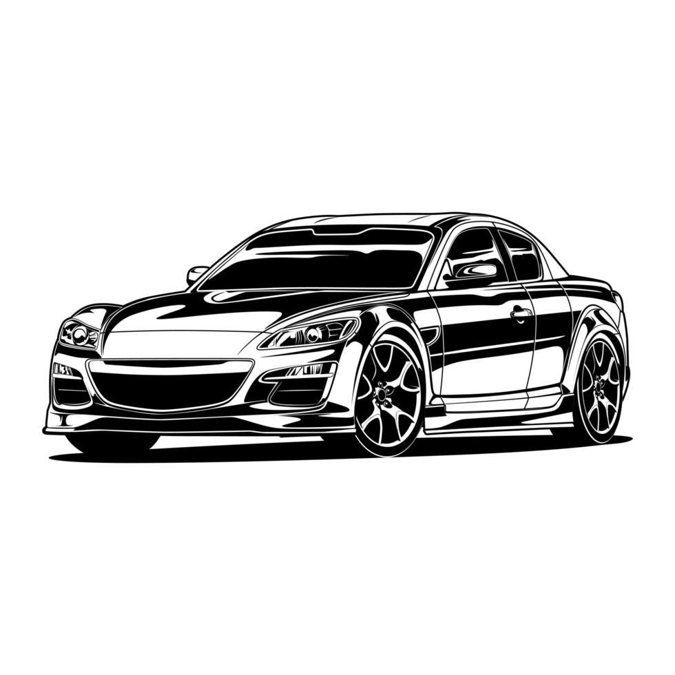 racerbil ritning vektor