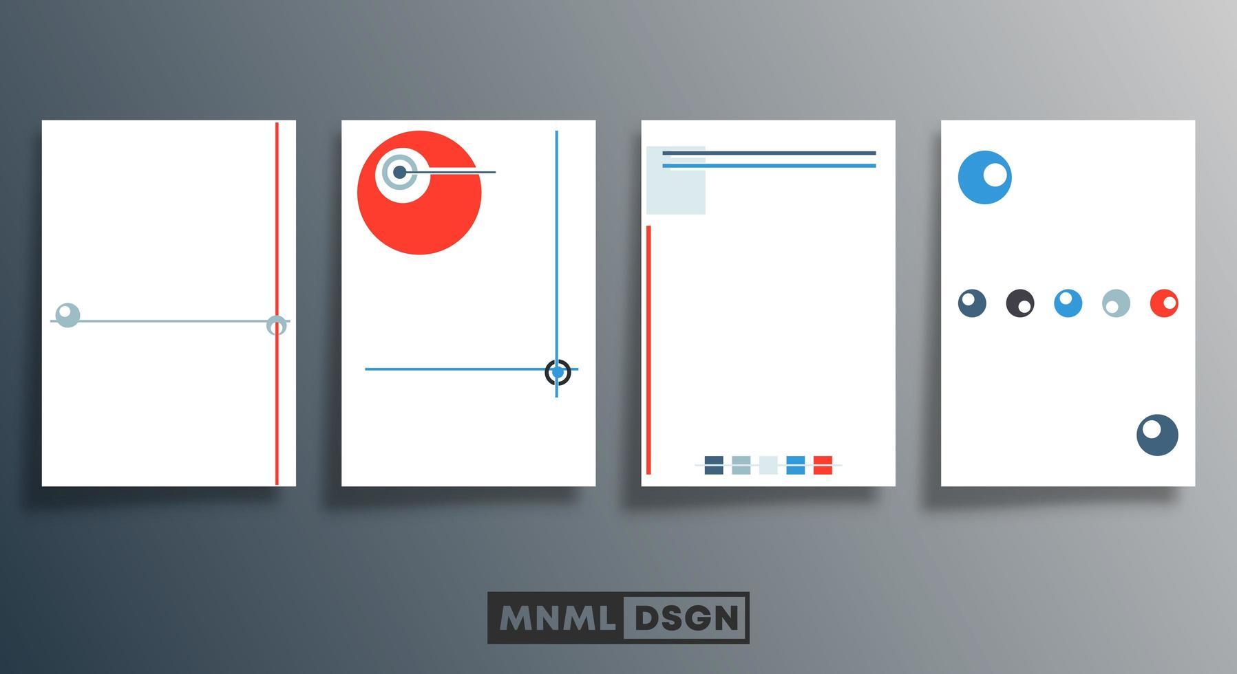 leere minimale Kreis- und Linienentwurfsvorlagen gesetzt vektor