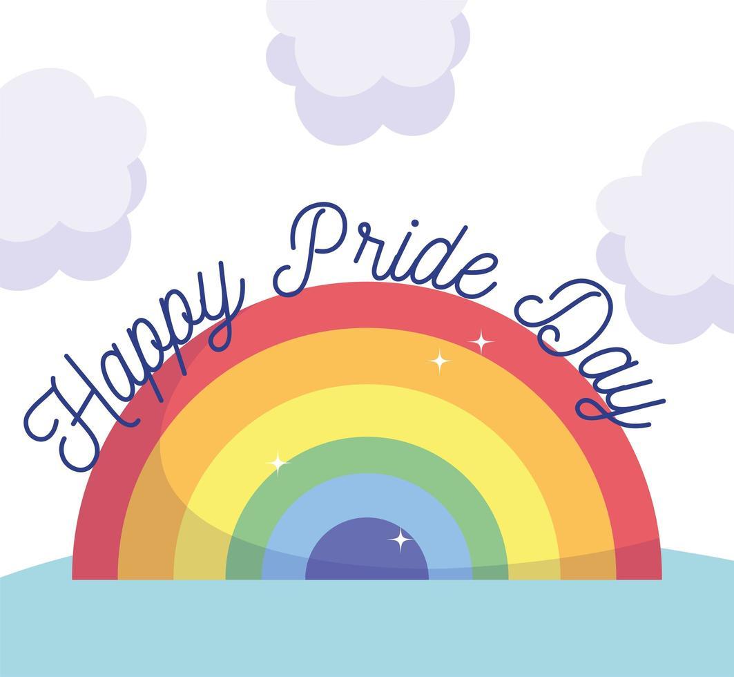 glad stolthet dag regnbåge vektor