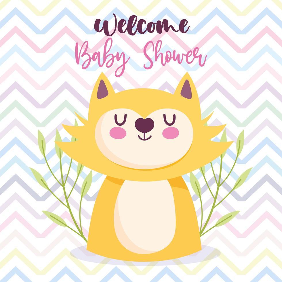 baby shower katt vektor