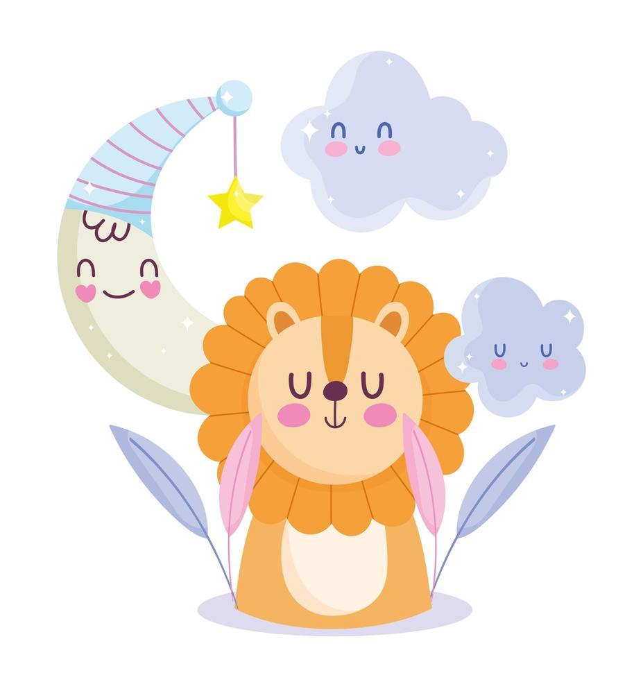 kleiner Löwenmond und Stern vektor