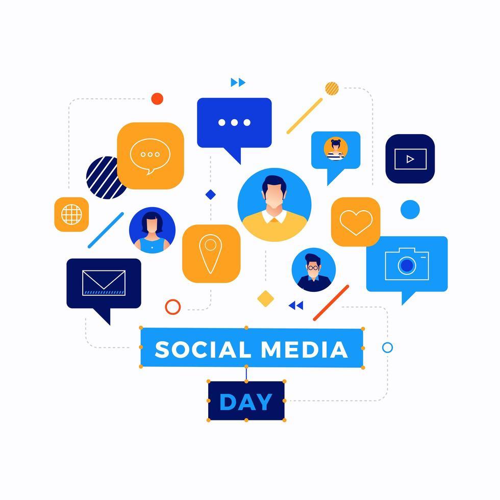 Social Media Day Icon Design vektor