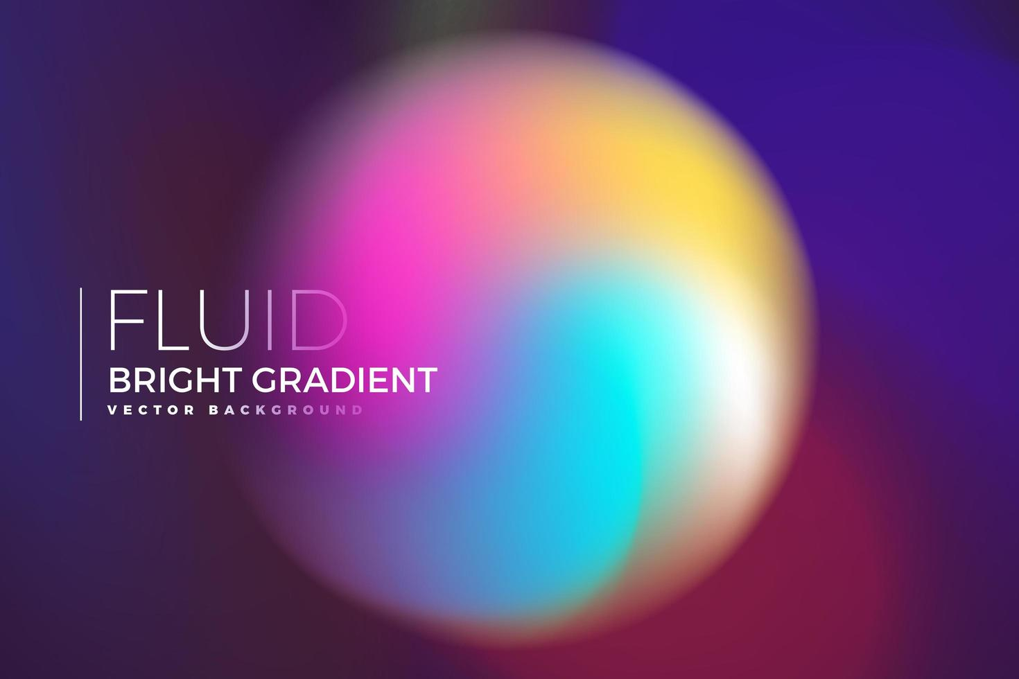 holografisk vätska ljus gradient cirkeldesign vektor