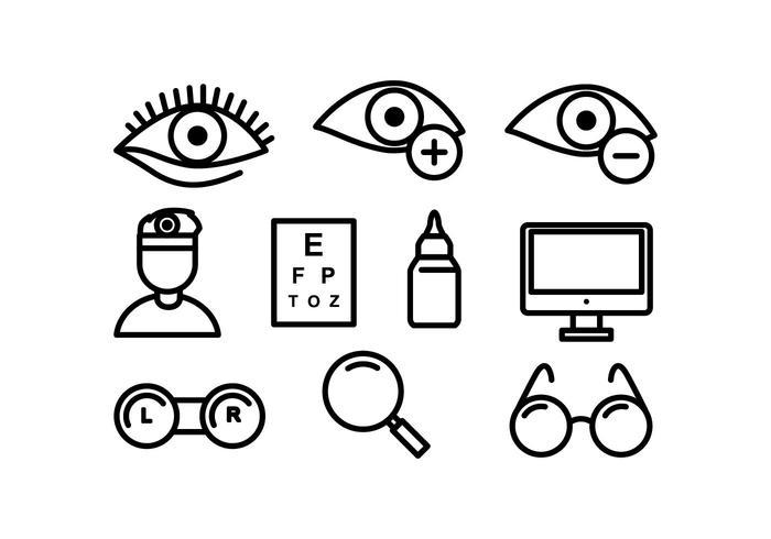 Freie Augenarzt-Vektor-Icons vektor